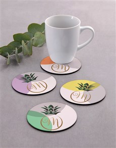 gifts: Personalised Colourful Coaster Set!
