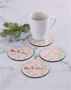 gifts: Personalised Pyramid Colours Coaster Set!