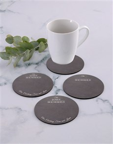 gifts: Personalised Household Coaster Set!