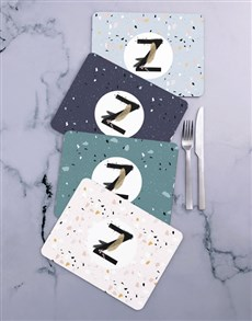 gifts: Personalised Paint Swish Initial Placemat Set!