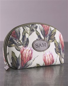 gifts: Personalised Protea Cosmetic Bag!