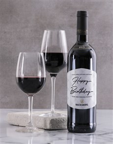 gifts: Personalised Contemporary Backsberg Wine!