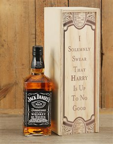 gifts: Personalised Solemnly Swear Jack Daniels Crate!