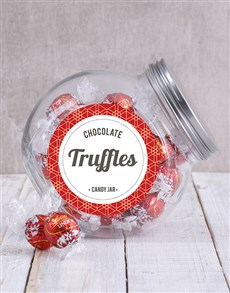 gifts: Lindt Chocolate Ball Candy Jar!