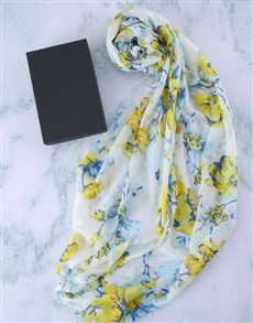 gifts: Botanical Scarf in a Gift Box!