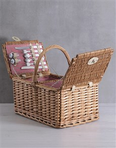 gifts: 4 Person Red Picnic Basket!