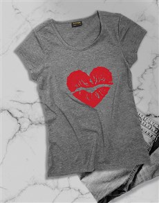 gifts: Red Lipstick Kiss Ladies T Shirt!