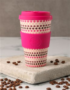 gifts: Pink Geometric Travel Eco Cup!