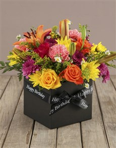 Bright And Brilliant Birthday Box Of Flowers