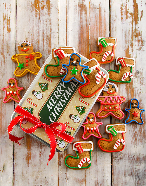 cookies-and-biscuits: Gingerbread Family Christmas Cookie Tin!