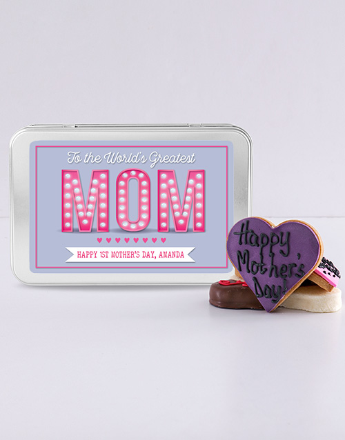 mothers-day: Personalised Greatest Mom Treat Tin!