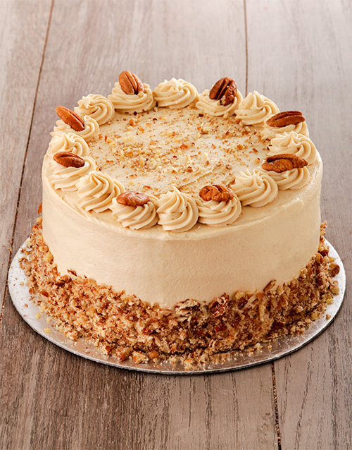 good-luck: Coffee and Pecan Nut Cake with Coffee Icing!