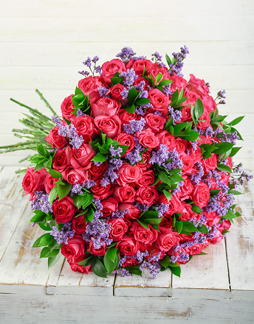 anniversary: Shades of Cerise Pink Bouquet!